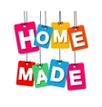 colorful hanging cardboard Tags - home vector image