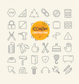 different trendy outline icons collection web and vector image