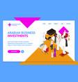 arab muslims people 3d landing web page template vector image