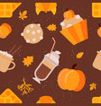 Autumn seamless pattern bright yellow dry leaves