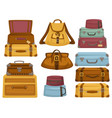 bag and baggage of different shapes and color vector image