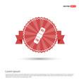bandage icon - red ribbon banner vector image