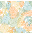 beautiful seamless doodle pattern with leaves vector image vector image