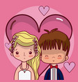 beeautiful wedding couple cartoon vector image vector image