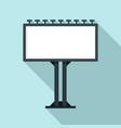 billboard icon flat style vector image vector image