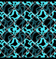 black and cyan seamless chess styled vintage cow vector image vector image