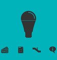 bulb icon flat vector image vector image