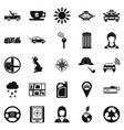 cabriolet icons set simple style vector image vector image