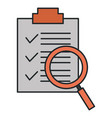 checklist document with magnifying glass vector image vector image