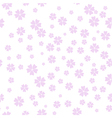 Cherry Blossom pattern spring floral background vector image vector image
