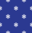 Christmas seamless pattern Blue background vector image vector image