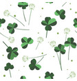 clover flowers seamless pattern design for vector image