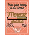 Color vintage manicure banner vector image