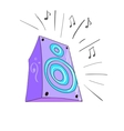 Colored doodle speaker vector image vector image