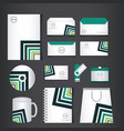 corporate brand identity template set vector image vector image