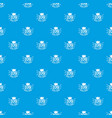 crown pattern seamless blue vector image vector image