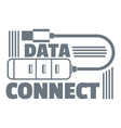data connect logo simple style vector image