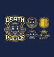 death police mascot logo design vector image