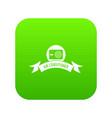 electric conditioner icon green vector image vector image