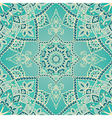 Elegant turquoise pattern vector image