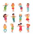 emotional kids child emotions funny sad happy vector image vector image