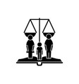 family rights black icon sign on isolated vector image vector image