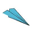 flight paper plane vector image vector image