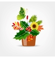 Floral pot isolated for your design vector image vector image