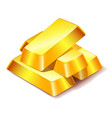 four gold bars icon isolated on white background vector image vector image
