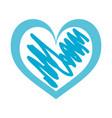 hand drawn heart love romance passion vector image