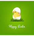 Happy Easter Card With Chicken vector image vector image