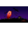 Happy Halloween image with pumpkin vector image