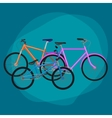 isolated set of electric bicycle for sport or vector image vector image