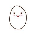 kawaii egg icon vector image vector image