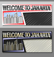 layouts for jakarta vector image vector image