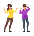 man and woman in virtual reality glasses vector image vector image