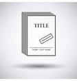 Manuscript under review icon vector image vector image