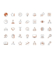 modern thin line icons set doing business vector image