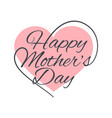 mothers day vintage lettering on white background vector image