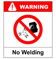 no welding sign isolated on vector image vector image