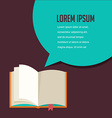 Open book with speech bubble vector image vector image