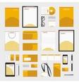 Orange circles corporate style template vector image