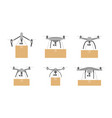 package delivery drone vector image