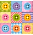 patchwork background with sewing buttons vector image vector image