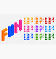plastic blocks bricks toys alphabets letters set vector image