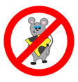 prohibition of mouse and rodents vector image vector image