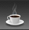 realistic morning coffee cup vector image vector image