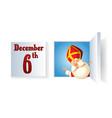 saint nicholas day at december on advent calendar vector image
