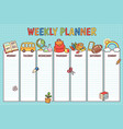 school weekly planner vector image