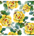 Seamless background with yellow roses vector image vector image